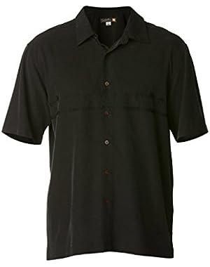 Mens Tahiti Palms 3 Button Up Short-Sleeve Shirt