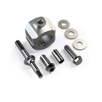 Steering Stabilizer Bracket Kit - TeraFlex 1123140 Steering Stabilizer Relocation Bracket Kit (JK (for Stock Tie Rod))
