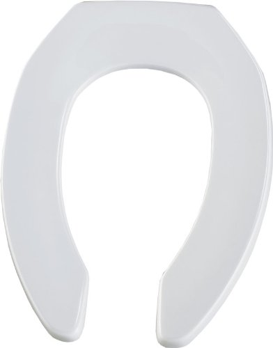 Bemis 1955CT346 Plastic Open Front Less Cover Elongated Toilet Seat Biscuit/Linen