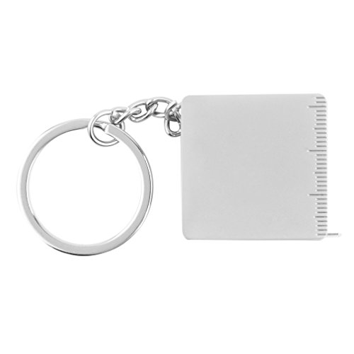 Lautechco Portable Full Metal Ruler Tape Measure Multifunctional Keychain Key Ring (Key Ring Measuring Tape)