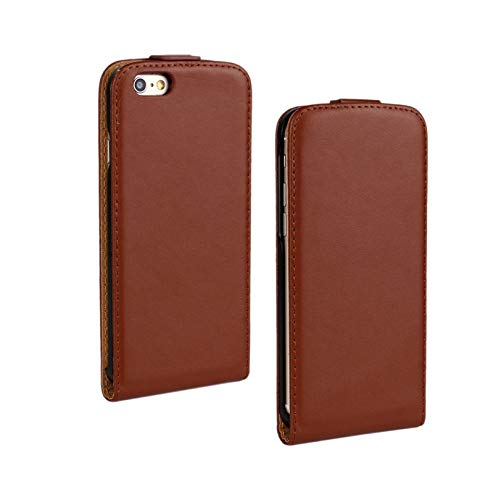 Leather Flip Case for 3 3G 3GS 4s SE 5s 6 6s 7 8 Plus X Cases Protective Shell Mobile Phone Bag Capinahs para,Brown,for X