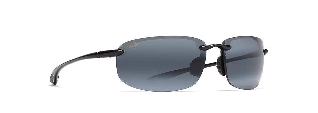 b202a80ddf Amazon.com: Maui Jim menswomen's Ho'okipa 407-02 | Gloss Black Rimless Frame,  Polarized Neutral Grey Lenses Sunglasses, 64mm Lens Width: Maui Jim: Shoes