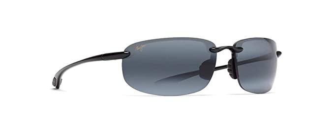 2615cc0e71e Maui Jim 407-02 Black Hookipa Rimless Sunglasses Polarised  Maui Jim ...