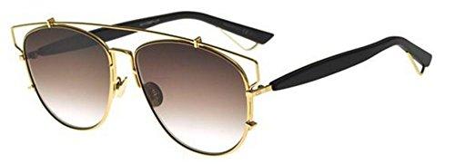 Christian Dior Technologic RHL86 Gold Black/Brown Gradient - Technologic Dior Sunglasses