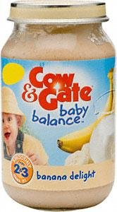 Cow and Gate Banana Delight From 7 Months Onwards 6x200g Jars