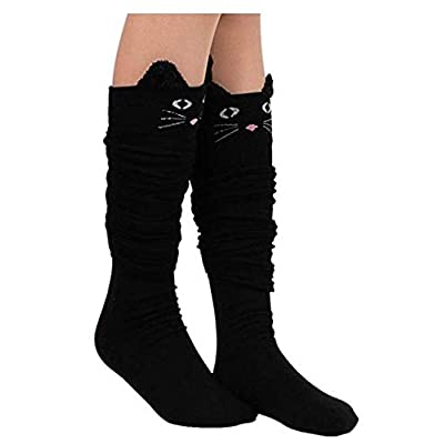 Cat Fan related Products Womens Knee High Socks, womens socks, PXH Ladies Cat Catoon Cute... [tag]