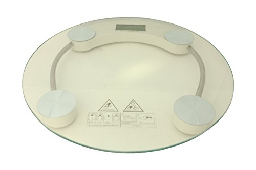 Daksh Personal Digital Weight Scale Round Clear
