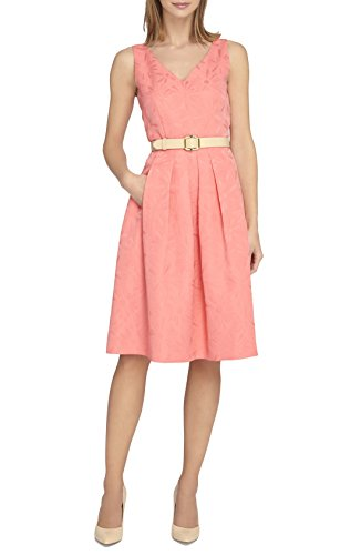 Buy belted jacquard dress - 4