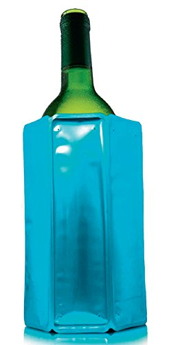 Vacu Vin - Enfriador para Botella de Vino Rapid Ice, plástico, Azul, 3