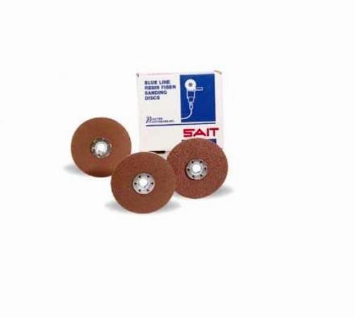 SAIT 50074 3A 7 x 7/8-Inch 100 Grit Aluminum Oxide Fiber Disc, 25-Pack