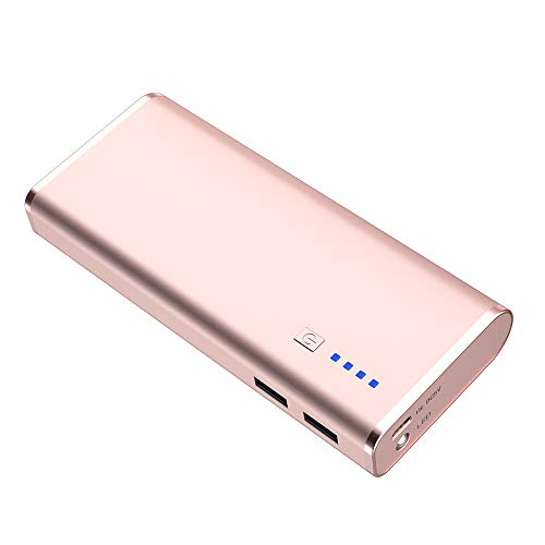 BONAI Portable Charger, USB Power Bank 10,000mAh External Battery Pack and Flashlight Compatible iPhone X 8 6 7+ Plus 6s 8 iPad Samsung Galaxy S8 S7 Note 8 Phone Smartphones Tablet - Rose Gold