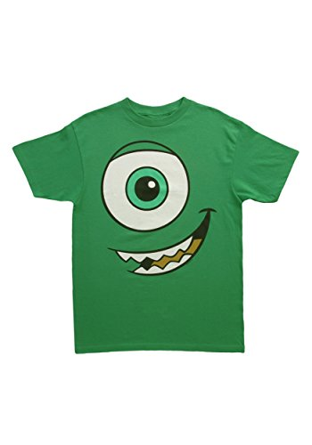 Monsters Inc Mike Wazowski Big Face T-shirt (Medium, (Monster Inc Costumes For Adults)