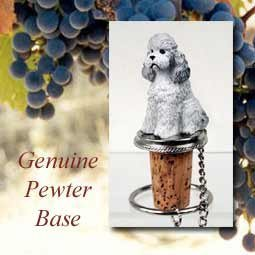 Poodle Gray Sport Cut Wine Bottle Stopper from Conversation Concepts by Conversation (Gray Angel Fish)