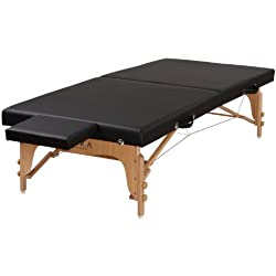 SierraComfort Portable Stretching Table Sits Low to Ground, Black