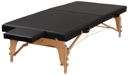 Sierra Comfort Portable Stretching Table Sits Low to Ground, Black (Sierra Master Sports)