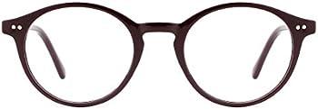 TIJN Blue Light Blocking Vintage Thick Round Rim Frame Eyeglasses