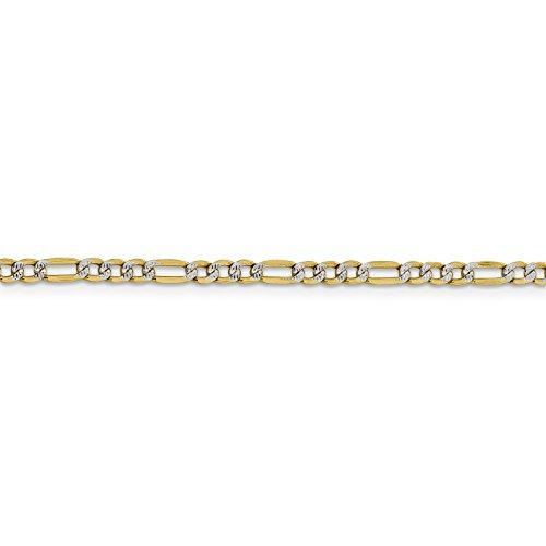 Yellow Gold Figaro Designer Bracelet - 4