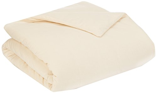 Coyuchi 1018418 Organic Cloud Brushed Flannel Duvet Cover, Full/Queen, Natural