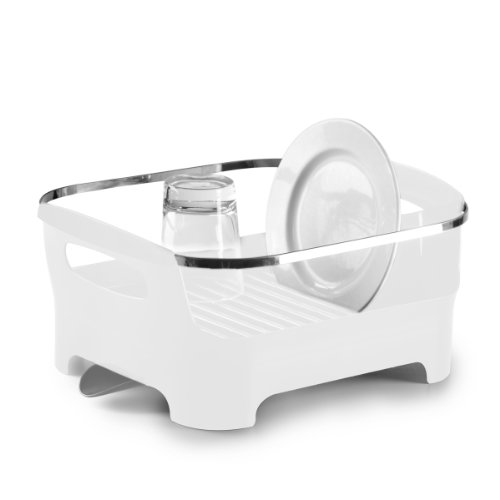 Umbra Basin Dish Drying Rack, White