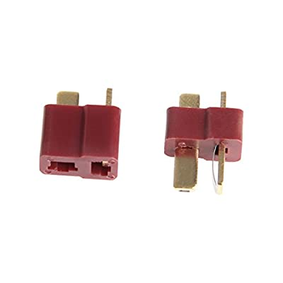 Huilier New 10 Pairs T Plug Male & Female Connectors Deans Style for RC LiPo Battery: Arts, Crafts & Sewing
