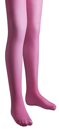 (Sportoli Girls Microfiber Deluxe Hold and Stretch Footed Ballet Tights - Hot Pink (size 10/12))