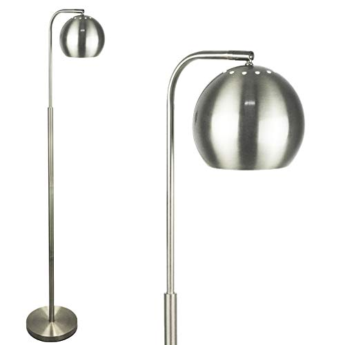 LightAccents Showroom Quality Mid Century Modern Floor Lamp, Globe Reading Light 59