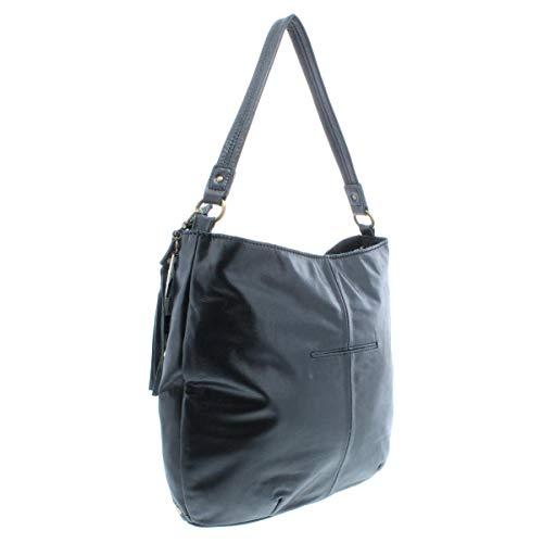 Sak Hobo Leather Studded Handbag Womens The Black PqSwAdFdW