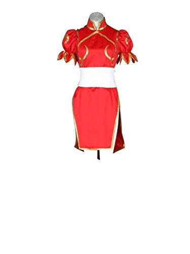 [Mtxc Women's Street Fighter Cosplay Costume Chun Li 4th Kid Size Large Red] (Street Fighter Kid Costume)