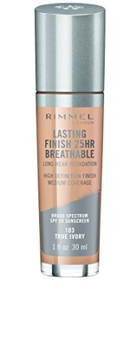 Rimmel Lasting Finish Breathable Foundation, True Ivory, 1 Fluid Ounce