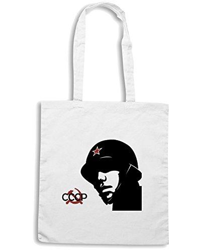 T-Shirtshock - Bolsa para la compra TCO0045 CCCP Soldier Blanco