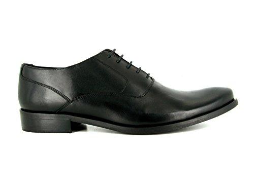 J.Bradford Zapatos Hombre De Vestir Richelieu Cuero Negro Cotch