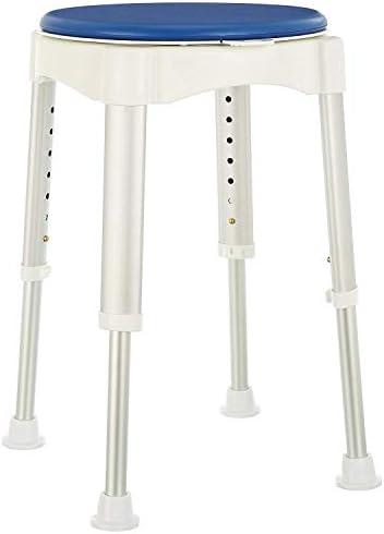 MuMa-Badhocker für Dusche Höhenverstellbarer Badewannen- und Duschhocker mit drehbarem Sitz, Stoppfunktion und weichem Polster (Size : 35 * 35 * 41-58cm)