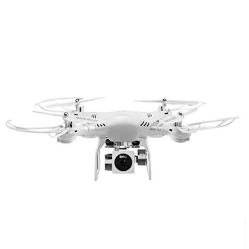 New HR SH5HD RC Quadcopter Drone With 270 Degree Rotating FPV 1080P Wide Angle Lens HD Camera (White)