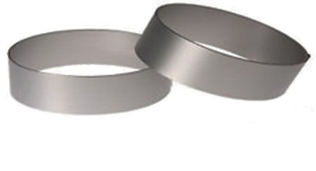(Pack of 2) Round Ring Mold. Stainless Steel (4