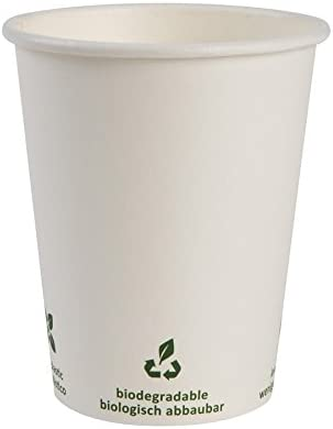 BIOZOYG Vaso de café Cartón I Vajilla compostable y Biodegradable ...