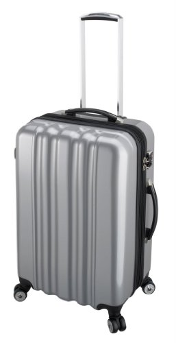 Heys USA Luggage Zcase 25 Inch Hardside Spinner, Silver, 24 Inch, Bags Central