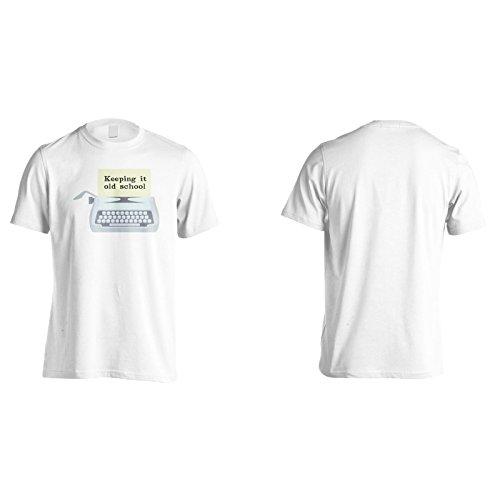 Halten Sie Es Alte Schule Herren T-Shirt k970m