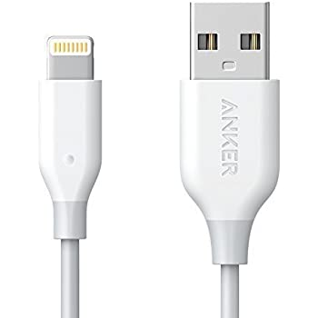 iPhone Charger, Anker PowerLine Lightning Cable (3ft), MFi Certified for iPhone X / 8 / 8 Plus / 7 / 7 Plus / 6 / 6 Plus / 5S (White)
