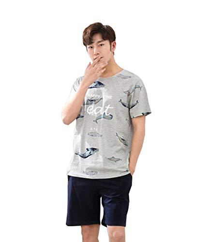 Piece Two In Summer Homewear Da Comodo Color3 Taglie Set E Corta Fashion Lounge Uomo Bagno Loungewear Cotone Abiti Top Manica Pigiama Hx Comode xqRwCn