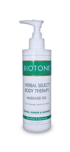 Body Oil 8 Oz (BIOTONE Herbal Select Body Therapy Massage Oil - 8 oz)