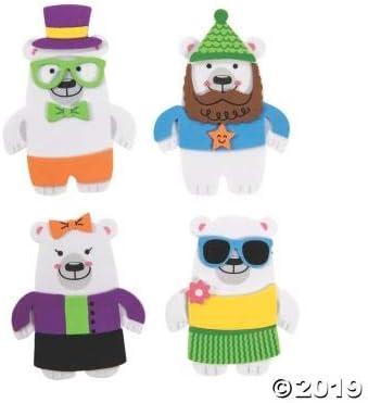 Fun Express Silly Polar Bear Magnet CK-12 Craft Kits 12 Pieces