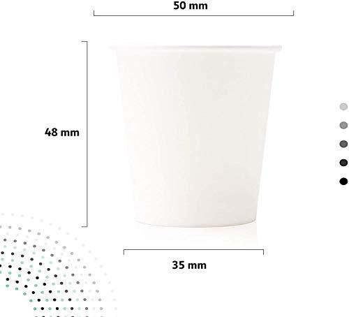 Cocobanana Kit Accessori per caffè - 150 Bicchierini Monouso, Biodegradabili - Bustine di Zucchero e Bastoncini di Legno - per Bevande Calde & Fredde, caffè Lungo, Macchiato, Espresso - 75ml