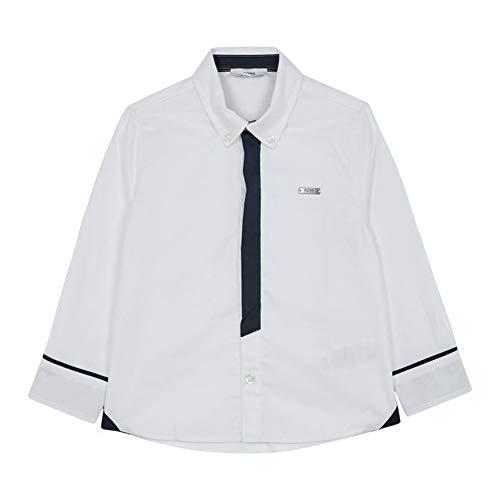 Hugo Boss Boys White Woven Dress Shirt Top 12 Months