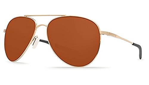Costa Cook Sunglasses Gold / Copper 580P & Cleaning Kit Bundle