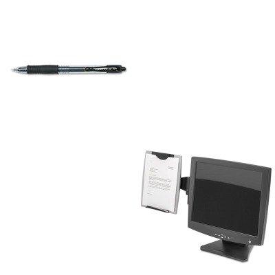 Monitor Mount Copyholder Fellowes (KITFEL8033301PIL31020 - Value Kit - Fellowes Office Suites Monitor Mount Copyholder (FEL8033301) and Pilot G2 Gel Ink Pen (PIL31020))