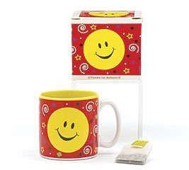 Smiley Face Happy Face Party Mug With Decorative Gift Box Great Inexpensive Gift ()