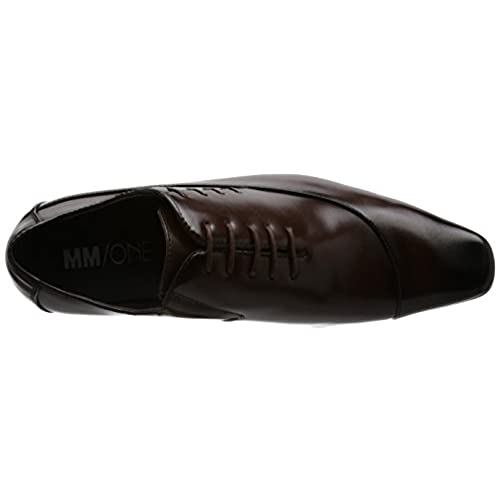 well-wreapped MM/ONE Mens Lace up Side Stitches Side Gore Dress Shoes Black Brown