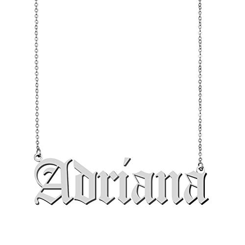 GR35Z9 Old English Customized Pendant Custom Any Name Necklace ()