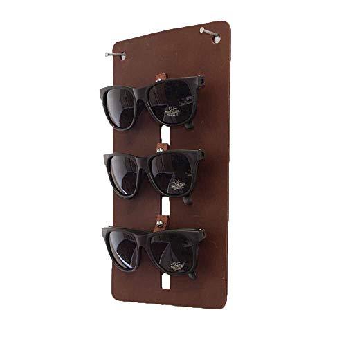 Hide & Drink, Leather Small Eyewear Wall Holder/Sunglasses/Eyeglasses/Display Case/Organizer, Handmade Includes 101 Year Warranty :: Bourbon Brown from Hide & Drink