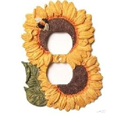 Sunflower Kitchen Decor Electrical Outlet Duplex Plate Cover